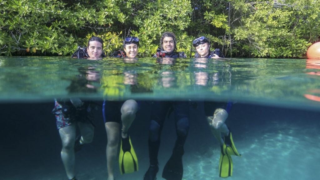 Group Divers on Riviera Maya cenotes